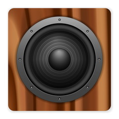wooden sound speaker icon