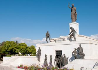 Liberty monument statue landmark in Nicosia, Cyprus