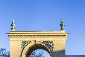 entrance of Hofgarden in Munich