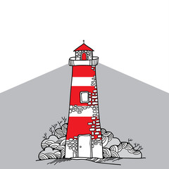 Hand-drawn Lighthouse for your design