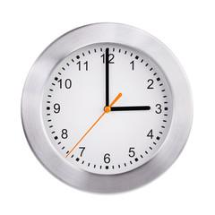 Three hours on the round clock