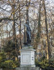 statue of Friedrich von SChiller at the Maximiliansplatz in Muni