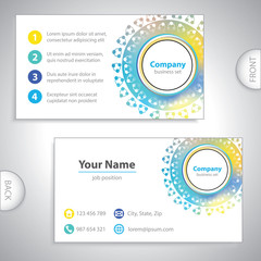 business card - science and research - laboratory research