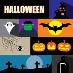 halloween  icon set vector illustration eps10