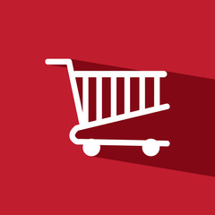 cart mart flat icon  vector illustration eps10