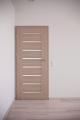 Closed bedroom door