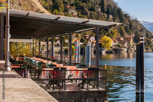 Bar con vista sula lago, Cannero Riviera, Lago Maggiore - 81407427