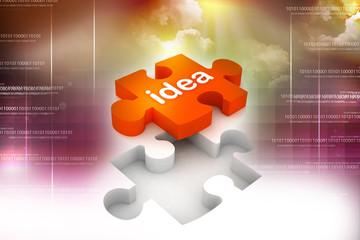 3d multi use idea puzzle in white background