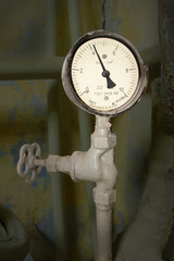Old pressure gauge made in the USSR in 1967