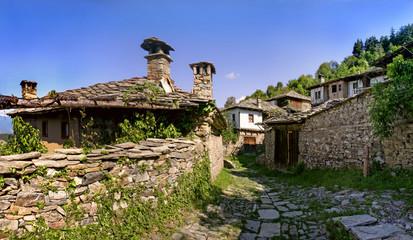 Traditional Bulgarian houses in Leshten village
