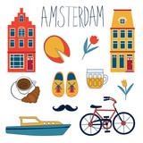 Colorful Amsterdam set