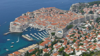 Dubrovnik old town seen from Srd mountain