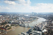 London aerial view with Tower Bridge