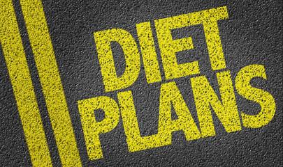 Diet Plans written on the road