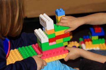 Children playing lego