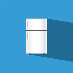 refrigerator flat icon  vector illustration eps10