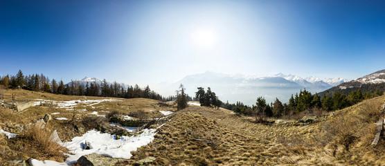Panoramica in montagna