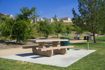 Picnic Table in Suburban Park