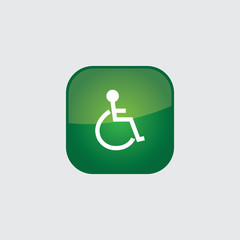disable button icon flat  vector illustration eps10