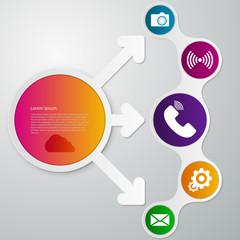 Vector illustration infographics circle arrow