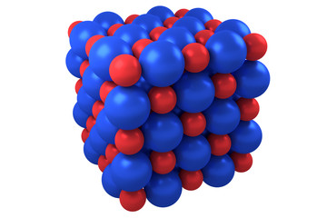 Molecule cubic crystal structure