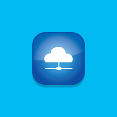 cloud share button icon flat  vector illustration eps10