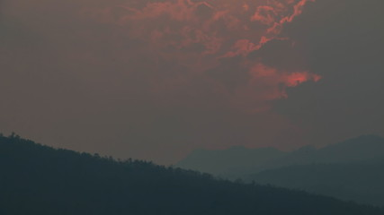 Timelapse from a sunset above the hills