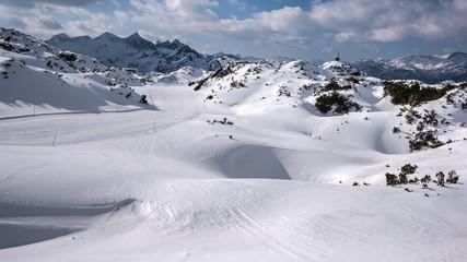 Vogel ski resort in Bohinj in Julian Alps