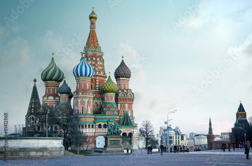 Fototapeta Saint Basil's Cathedral on Red Square in Moscow