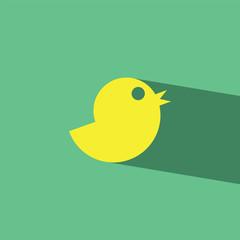 Chick flat icon  vector illustration eps10