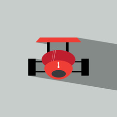 Racing car flat icon  vector illustration eps10