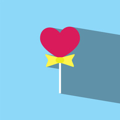 heart Lollipop flat icon  vector illustration eps10