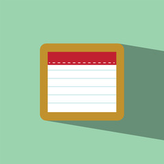 note flat icon  vector illustration eps10