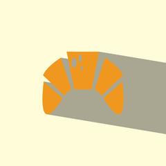 croissant flat icon  vector illustration eps10