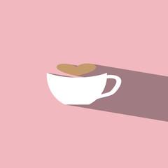coffee latte art flat icon  vector illustration eps10