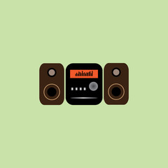 radio flat icon  vector illustration eps10