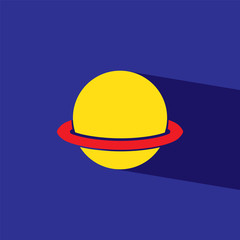 Saturn flat icon  vector illustration eps10