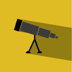 Telescope flat icon  vector illustration eps10