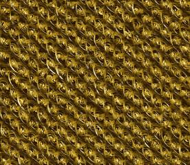 Golden fleece, wool, waves abstract background design