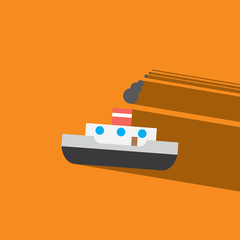 barges flat icon  vector illustration eps10