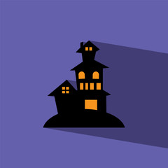 haunted house flat icon  vector illustration eps10