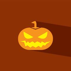 pumpkin halloween flat icon  vector illustration eps10