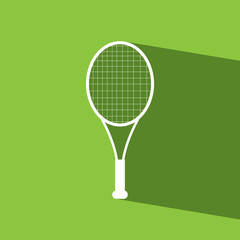 Racket tennis flat icon  vector illustration eps10