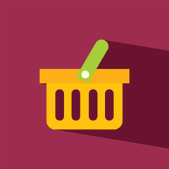 Basket shopping flat icon  vector illustration eps10