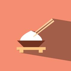 rice japanese flat icon  vector illustration eps10