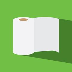 tissue roll flat icon  vector illustration eps10