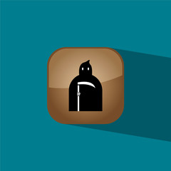 murderer button icon flat  vector illustration eps10