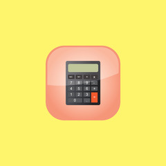 calculator button icon flat  vector illustration eps10