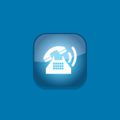 phone button icon flat  vector illustration eps10