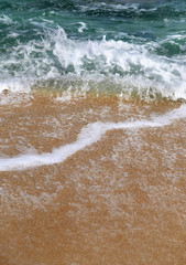 sea waves and beach